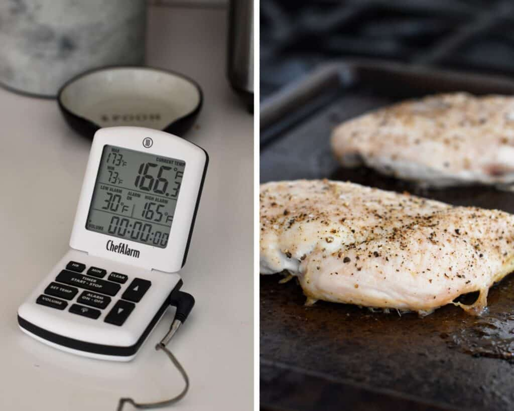 Chicken breasts baked to 165 degrees