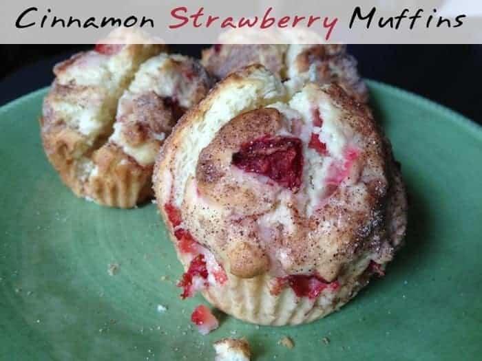 Cinnamon Strawberry Muffins