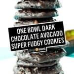 Dark Chocolate Avocado Super Fudgy Cookies | Stress Baking