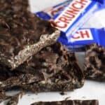 homemade dark chocolate crunch bars