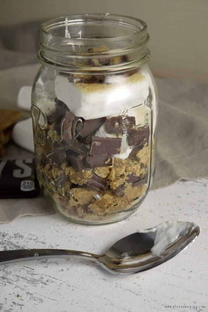 S'more Trifle: Eat s'mores by the spoonful! The classic campfire treat is turned into a trifle for an easy and quick dessert any night of the week. | stressbaking.com #shop #cbias