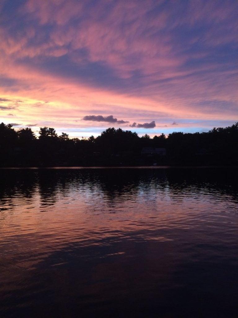 Lake Boon sunset