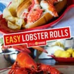 Easy No Mayo Lobster Roll | Stress Baking