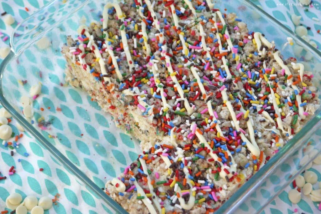 Funfetti Rice Krispie Treats