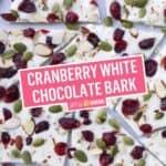 Cranberry White Chocolate Bark | Stress Baking