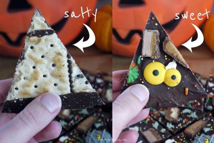 Leftover Halloween Candy Bark