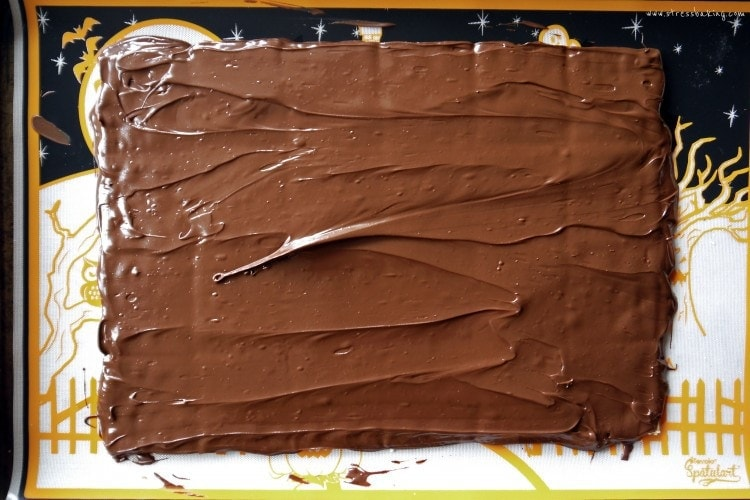 Layer of semisweet chocolate