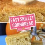 Easy Skillet Cornbread | Stress Baking
