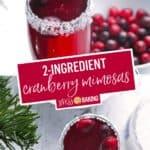 Cranberry Mimosas | Stress Baking
