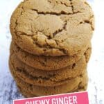 Chewy Ginger Molasses Cookies | Stress Baking