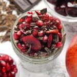 Chocolate Cherry Pomegranate Chia Pudding
