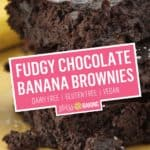 Fudgy Chocolate Banana Brownies | Stress Baking