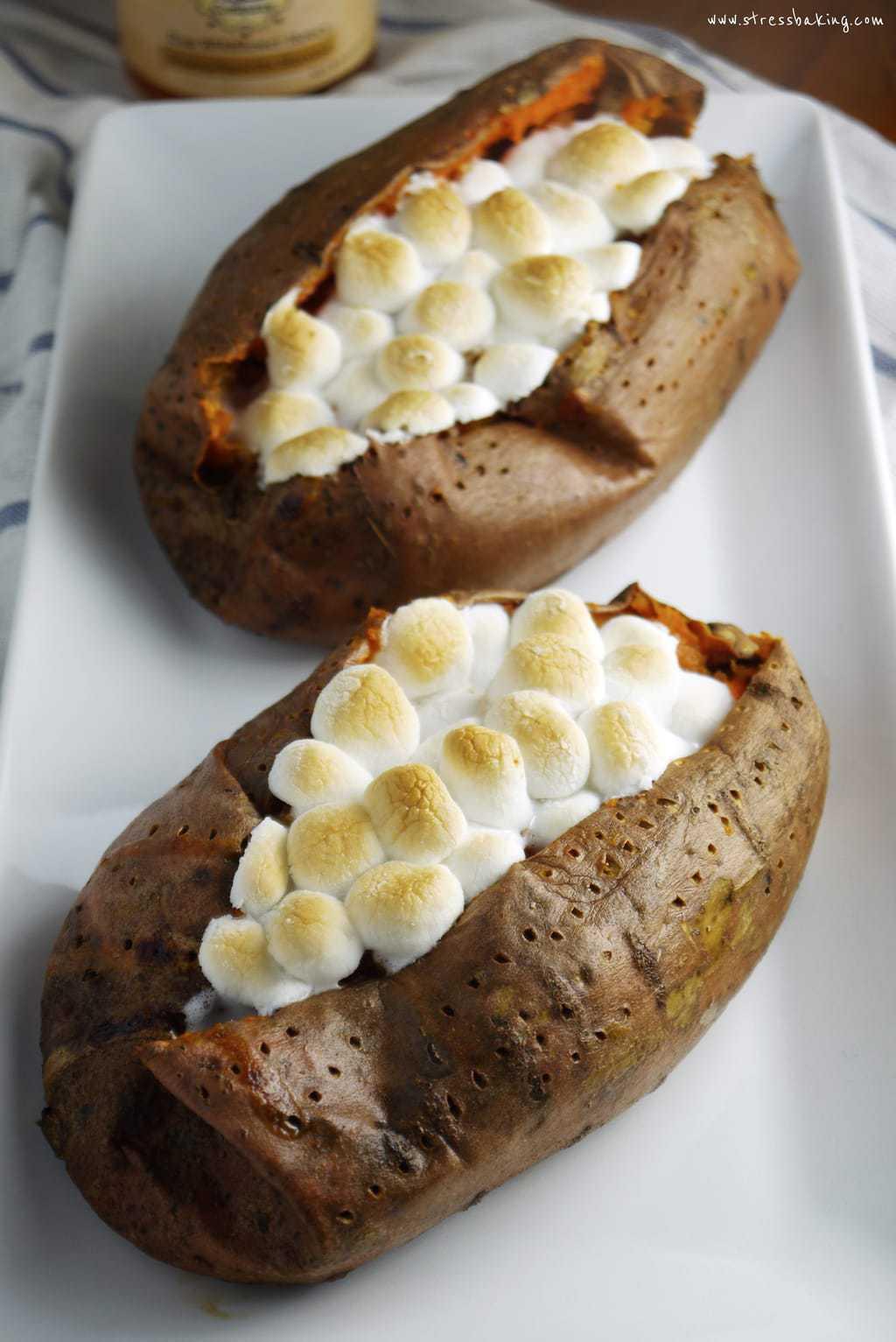 Twice-Baked Sweet Potatoes | Stress Baking