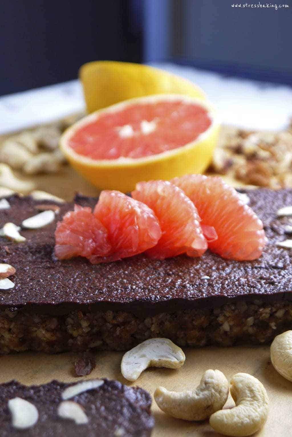 No-Bake Grapefruit Tart with Nut Crust