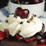 Black Forest No-Bake Date Brownie Sundaes