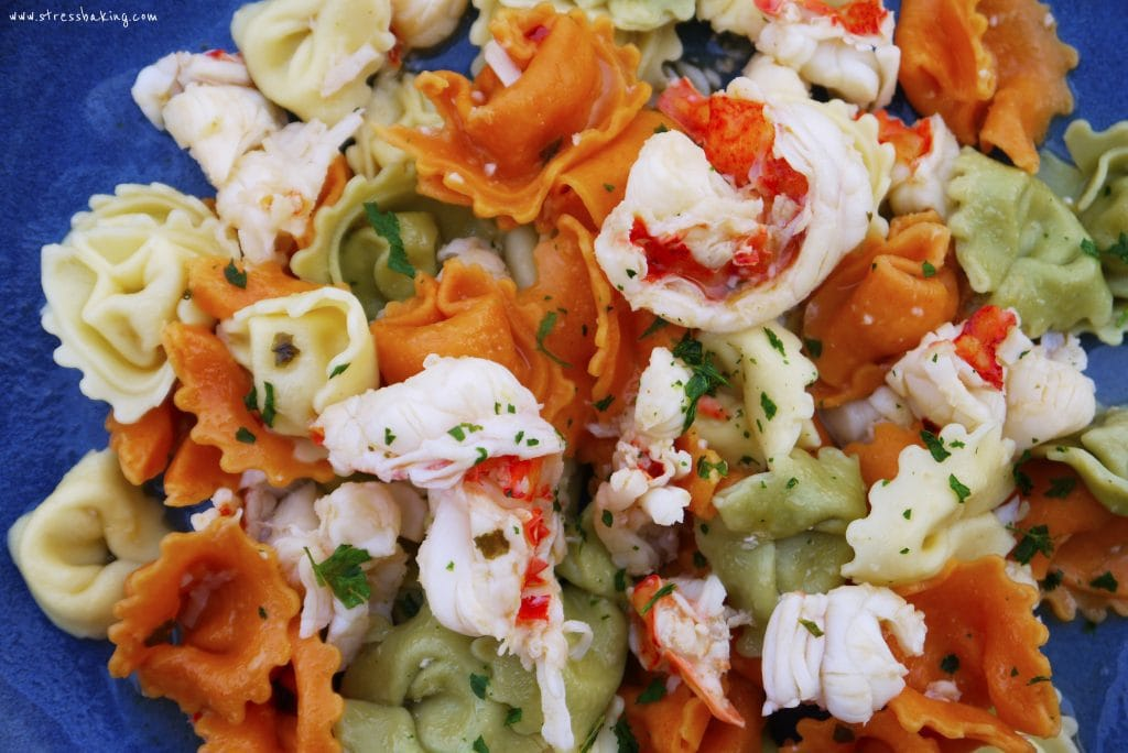 Lobster with Cheese Tortellini