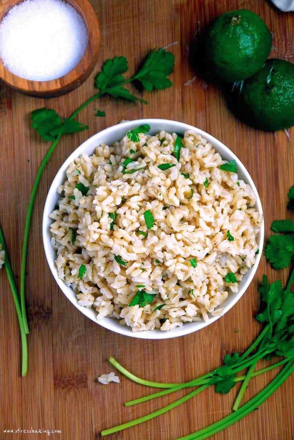 Cilantro Lime Brown Rice | Stress Baking