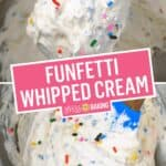 Funfetti Whipped Cream | Stress Baking