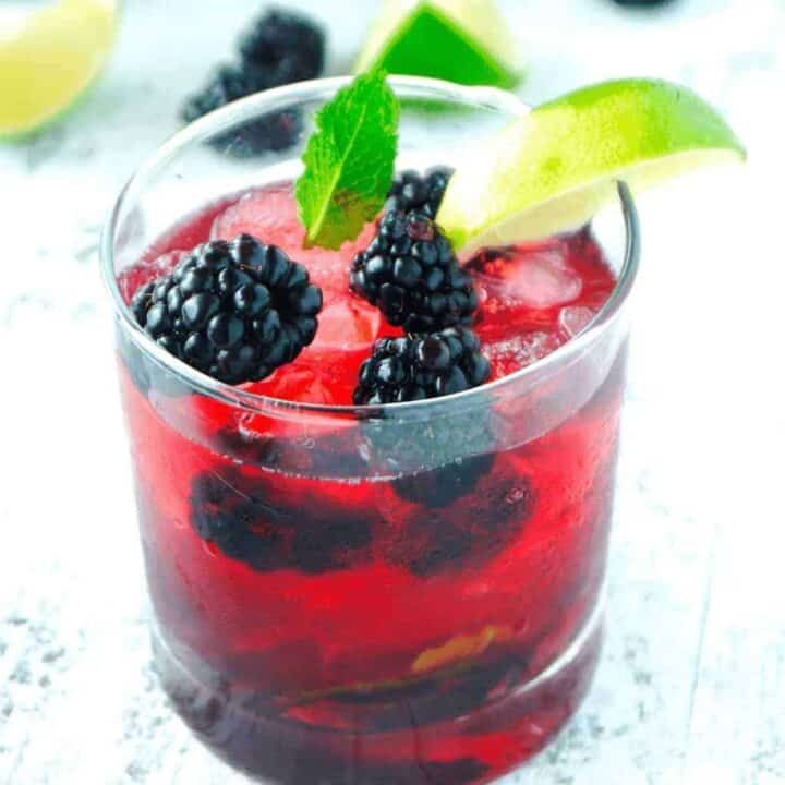 Blackberry Lime Mint Julep