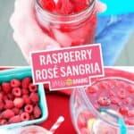 Raspberry Rosé Sangria | Stress Baking
