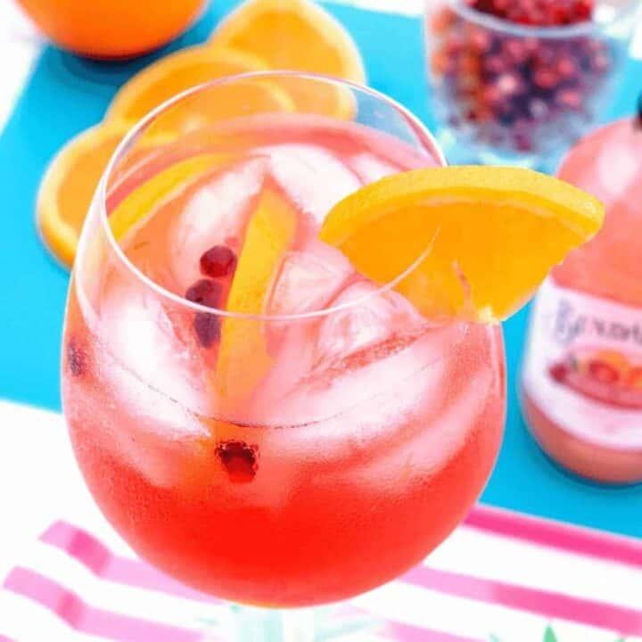 Blood Orange Sangria with Bundaberg Sparkling Beverages