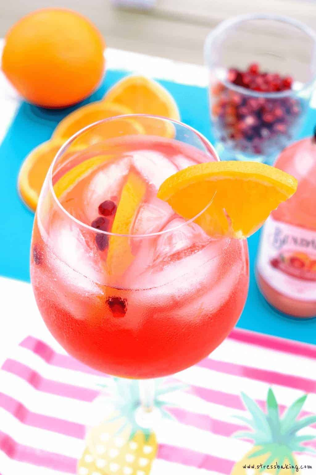 Blood Orange Sangria with Bundaberg Sparkling Beverages
