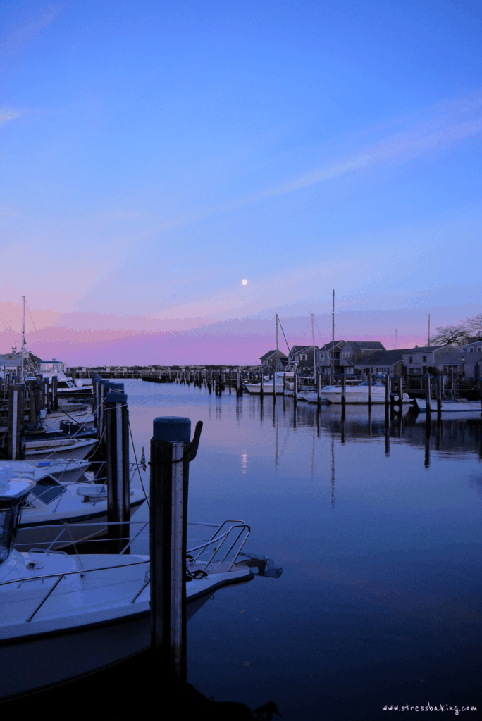 Nantucket harbor sunset