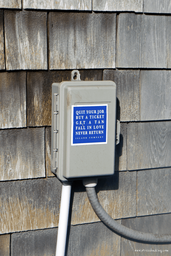 Nantucket utility box sticker