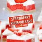 "Strawberry Rhubarb Bars ""Rhubars"" | Stress Baking"