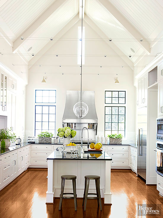 High ceiling kitchen