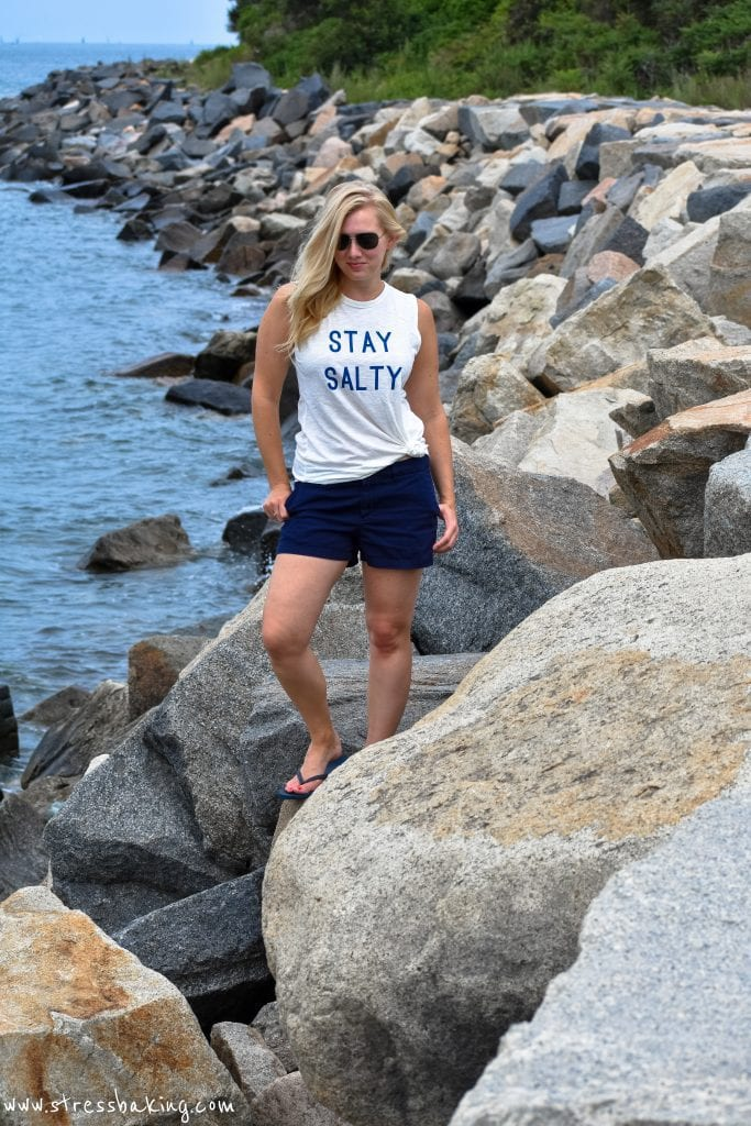 "A Salty Soul ""Stay Salty"" tank 