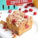 Paleo Cranberry Coffee Cake | Stress Baking