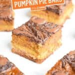 Nutella Swirled Pumpkin Pie Bars (Paleo) | Stress Baking