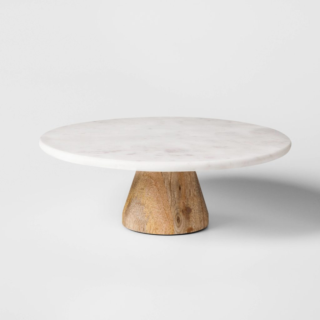 Marble & Acacia Cake Stand from Target