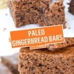 Paleo Gingerbread Bars (GF | DF | Paleo) | Stress Baking