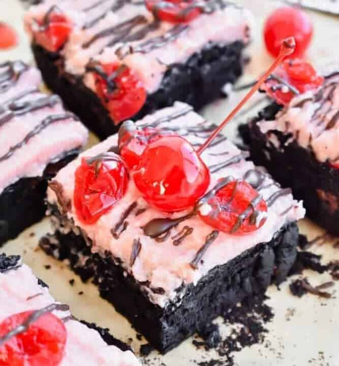 Small Batch Chocolate Covered Cherry Brownies