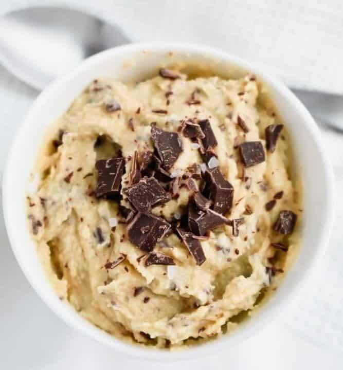 Paleo Edible Chocolate Chip Cookie Dough