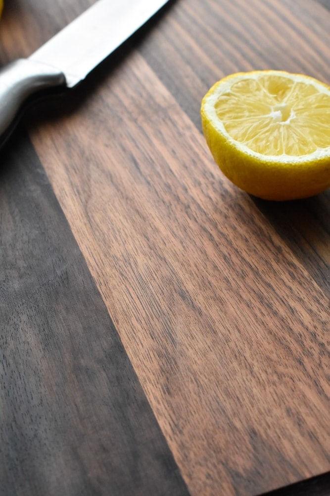 Walnut cutting board from Virginia Boys Kitchens