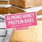 Almond Honey Protein Bars | Stress Baking