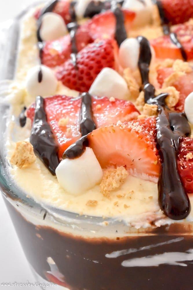 No Bake Strawberry S'mores Icebox Cake