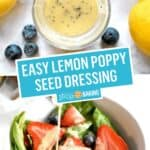 Lemon Poppy Seed Dressing | Stress Baking