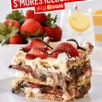No Bake Strawberry S'mores Icebox Cake | Stress Baking