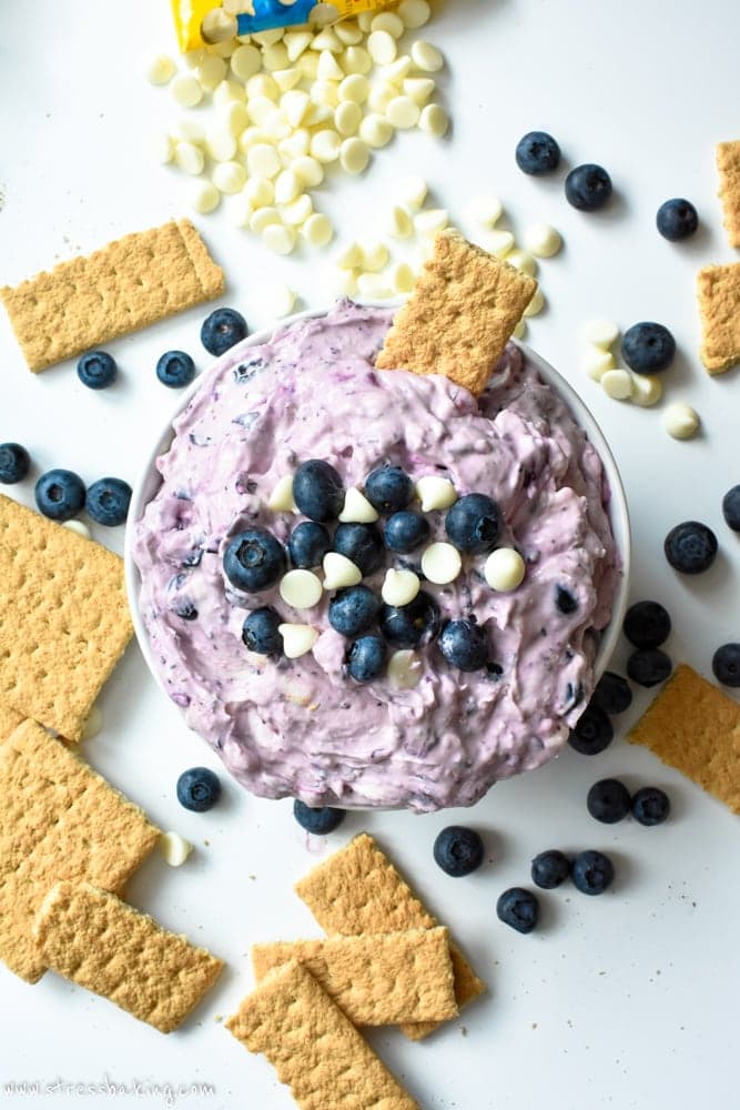 Blueberry White Chocolate Cheesecake Dip