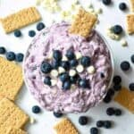 Blueberry White Chocolate Cheesecake Dip: