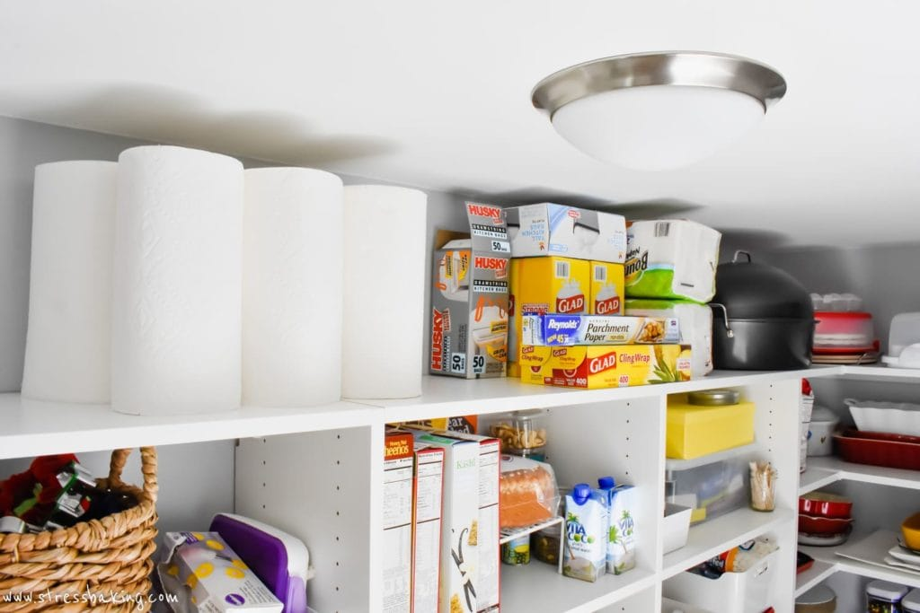 California Closets White pantry shelving