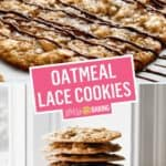 Thin & Chewy Oatmeal Lace Cookies | Stress Baking