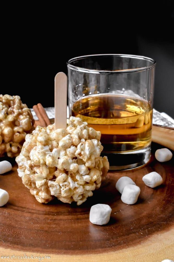 Cinnamon Buttered Rum Popcorn Balls