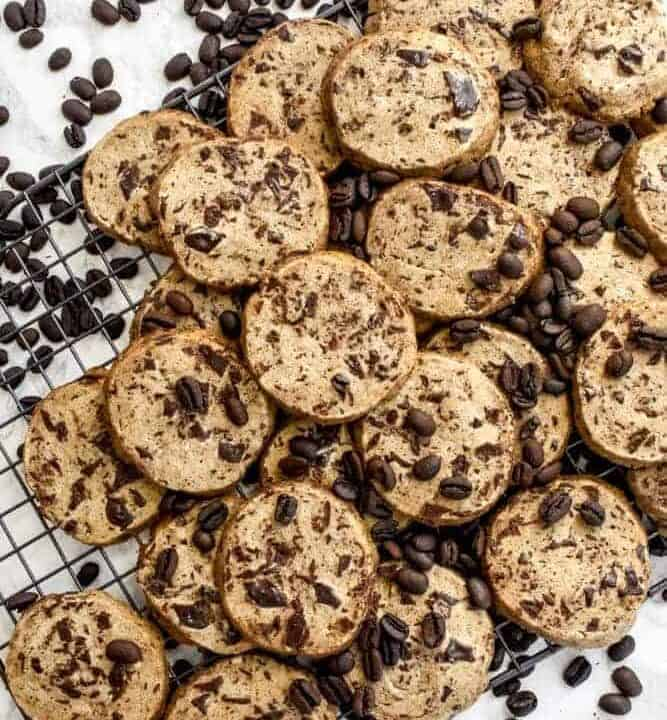 Chocolate Chunk Espresso Slice and Bake Cookies