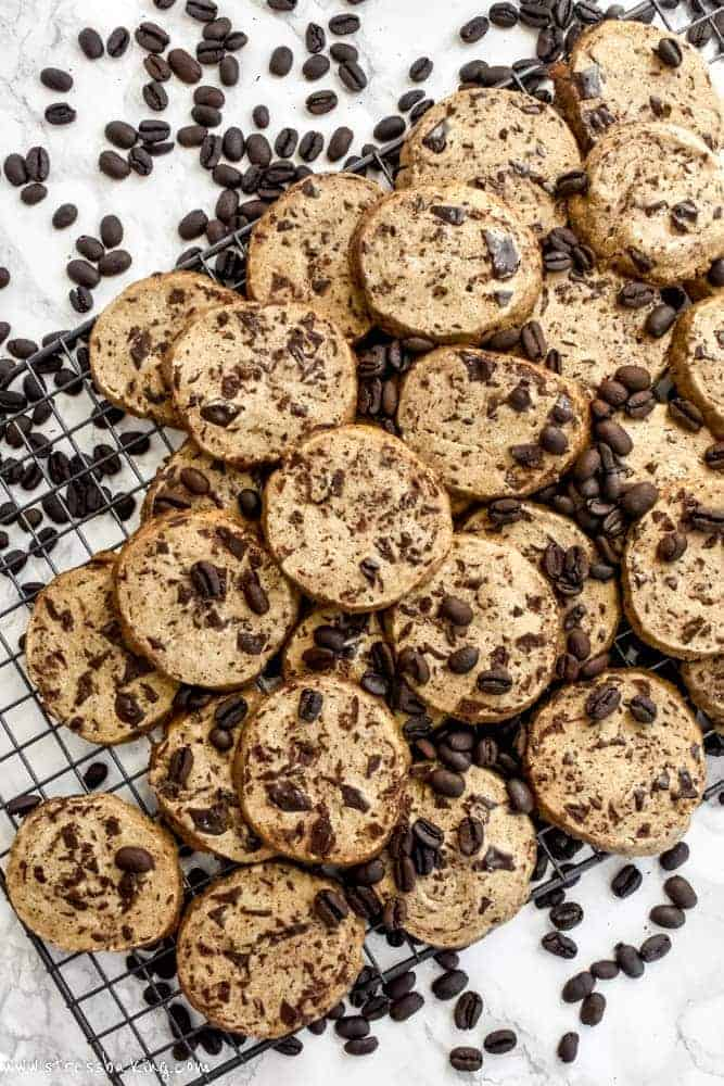 Chocolate Chunk Espresso Slice and Bake Cookies
