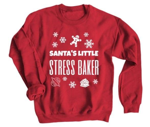 Santa's little stress baker sweatshirt
